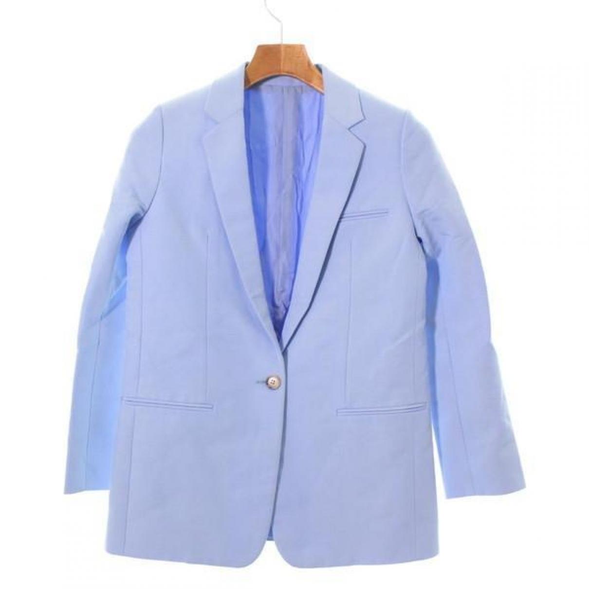 Celine - Veste   pour femme en lin - bleu
