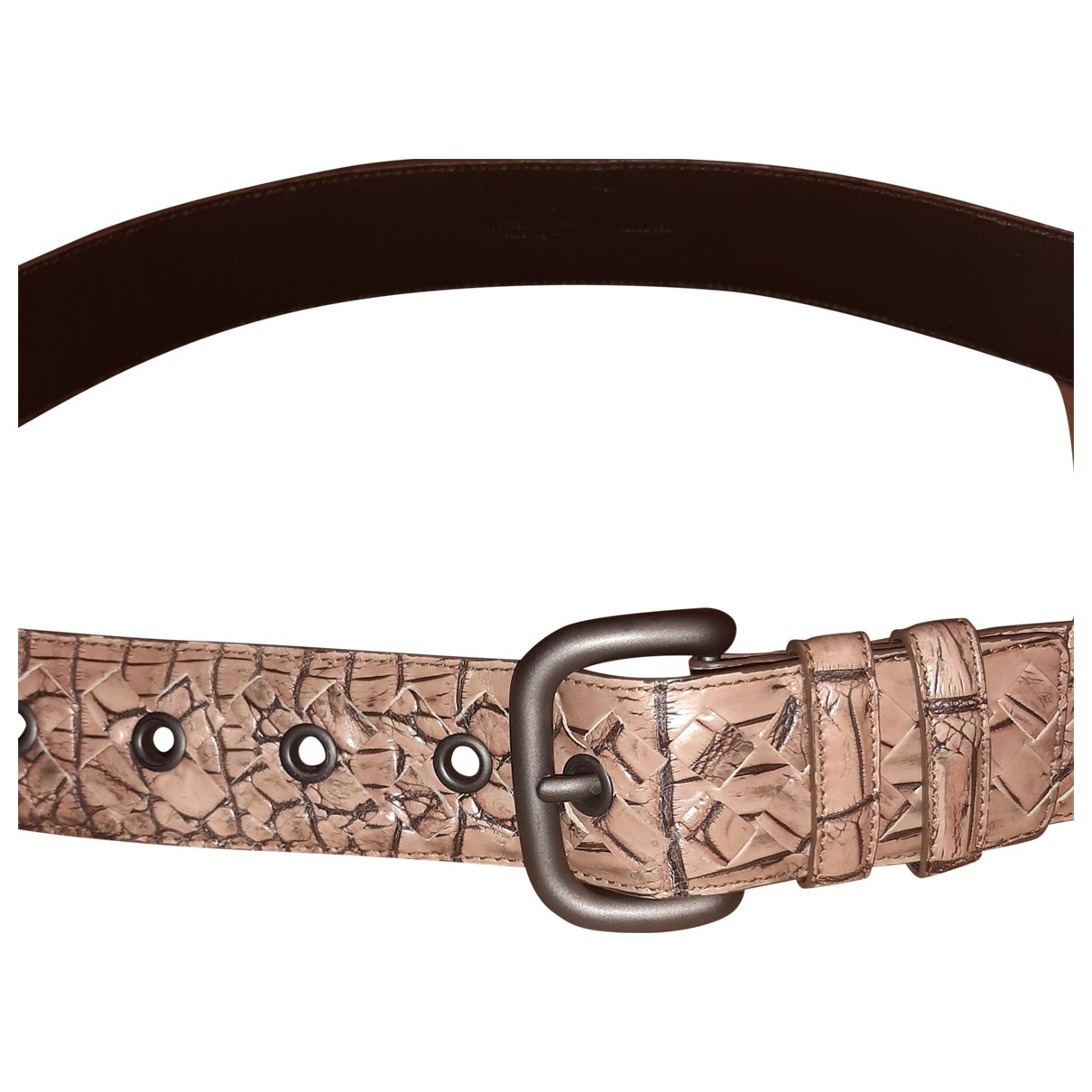 Cinturon de Cocodrilo Bottega Veneta