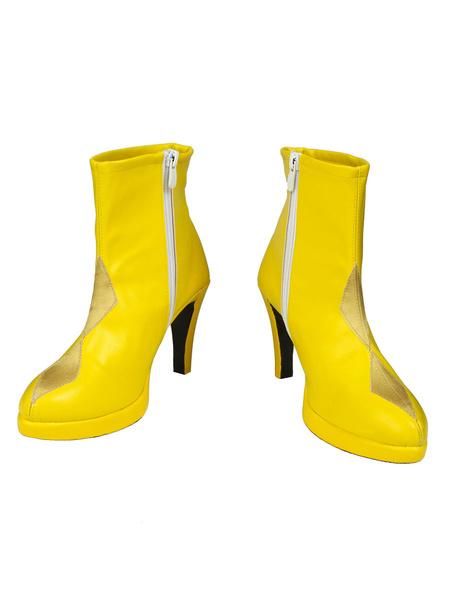 Milanoo Birds Of Prey Cosplay Harley Quinn Faux Leather Footwear Cosplay Shoes