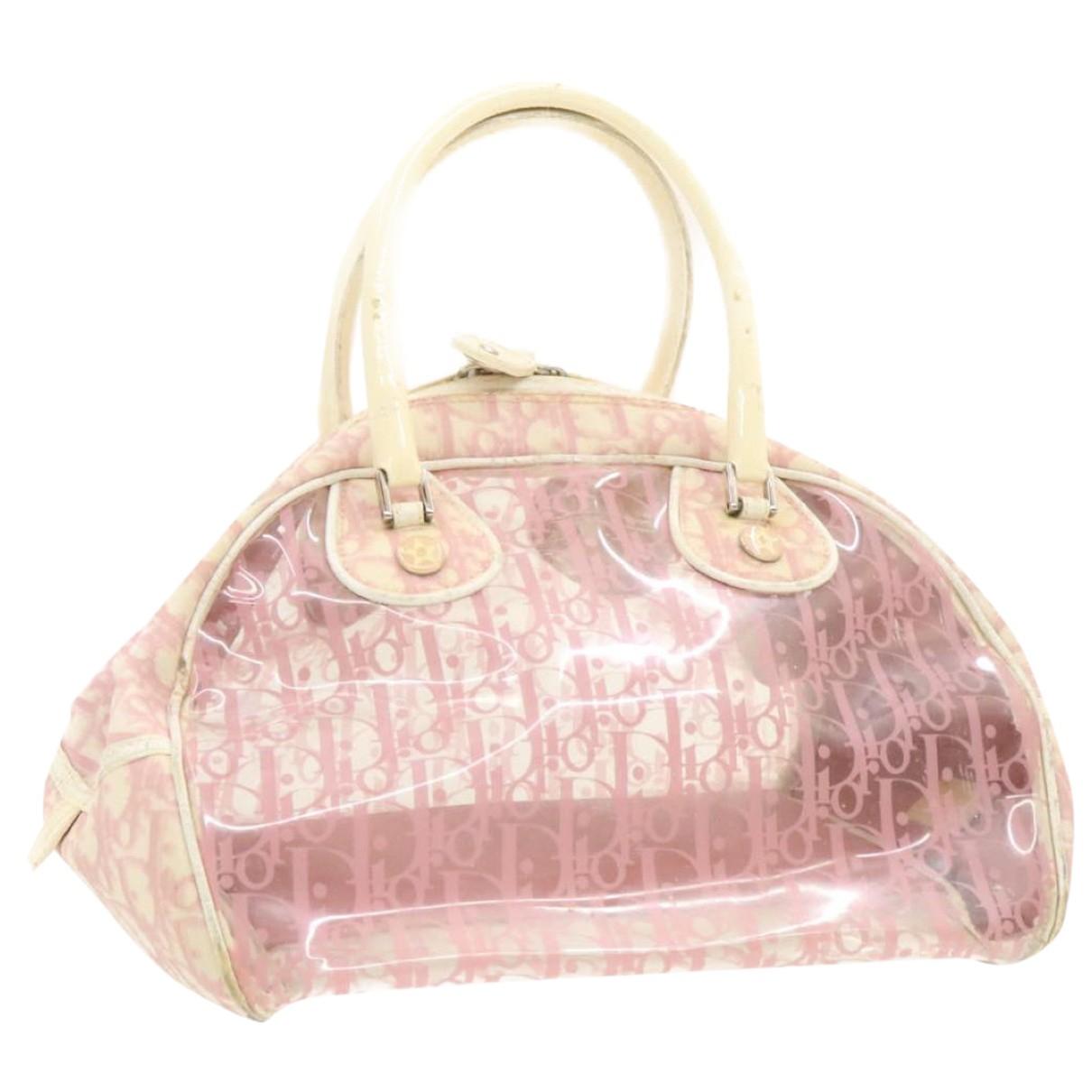 Christian Dior - Sac a main   pour femme en toile - rose