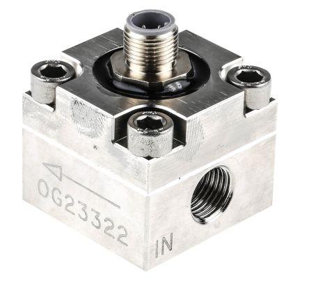 RS PRO Oval Gear Flow Meter, 0.01 L/min → 4 L/min