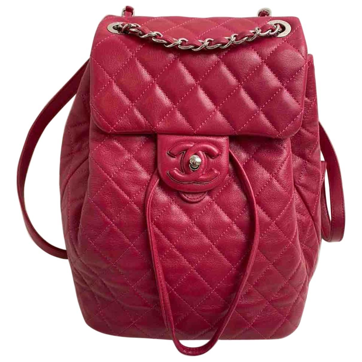 Chanel Timeless/Classique Rucksaecke in  Rosa Leder