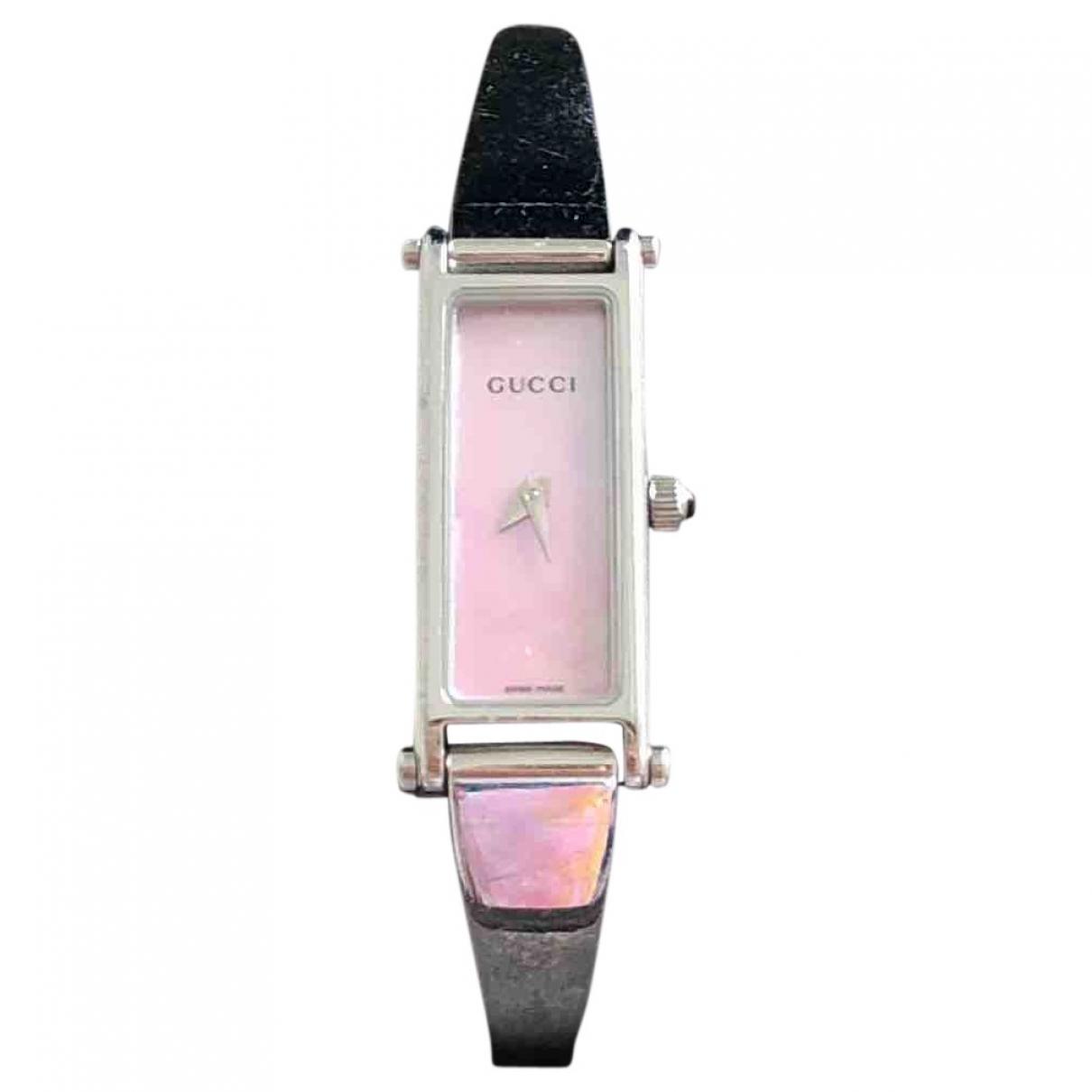 Gucci - Montre   pour femme en acier - argente