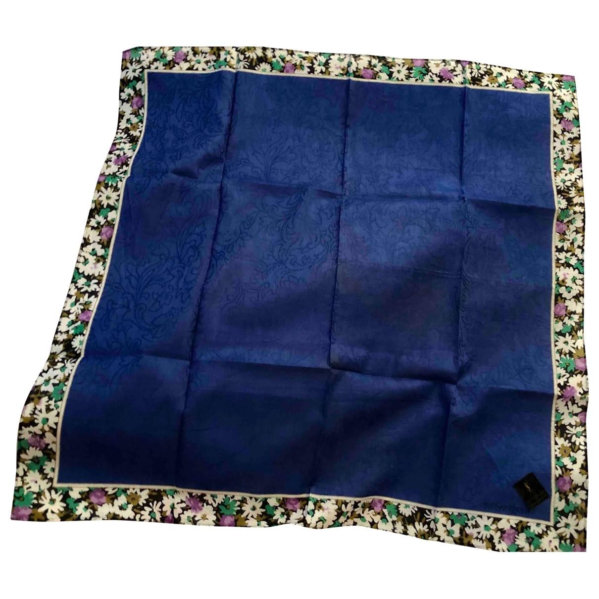 Yves Saint Laurent \N Blue Cotton scarf for Women \N