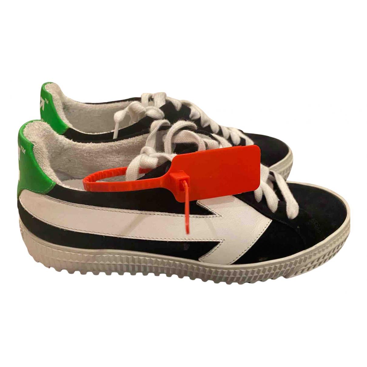 Off-white Arrow Sneakers in  Schwarz Leder
