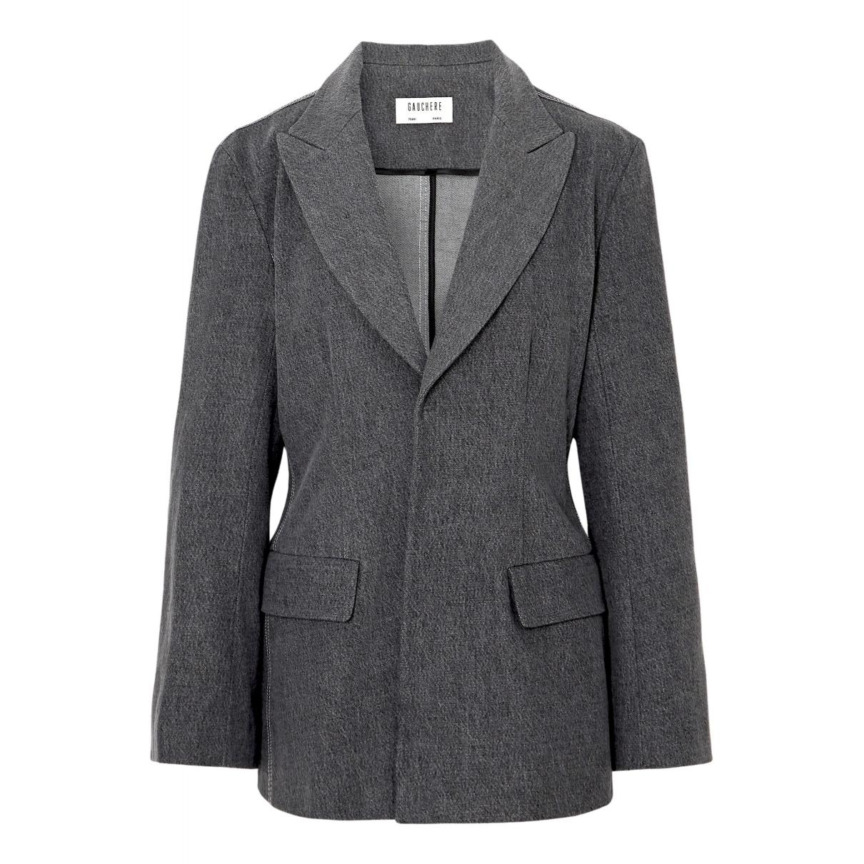 Gauchère N Grey Cotton jacket for Women 38 FR