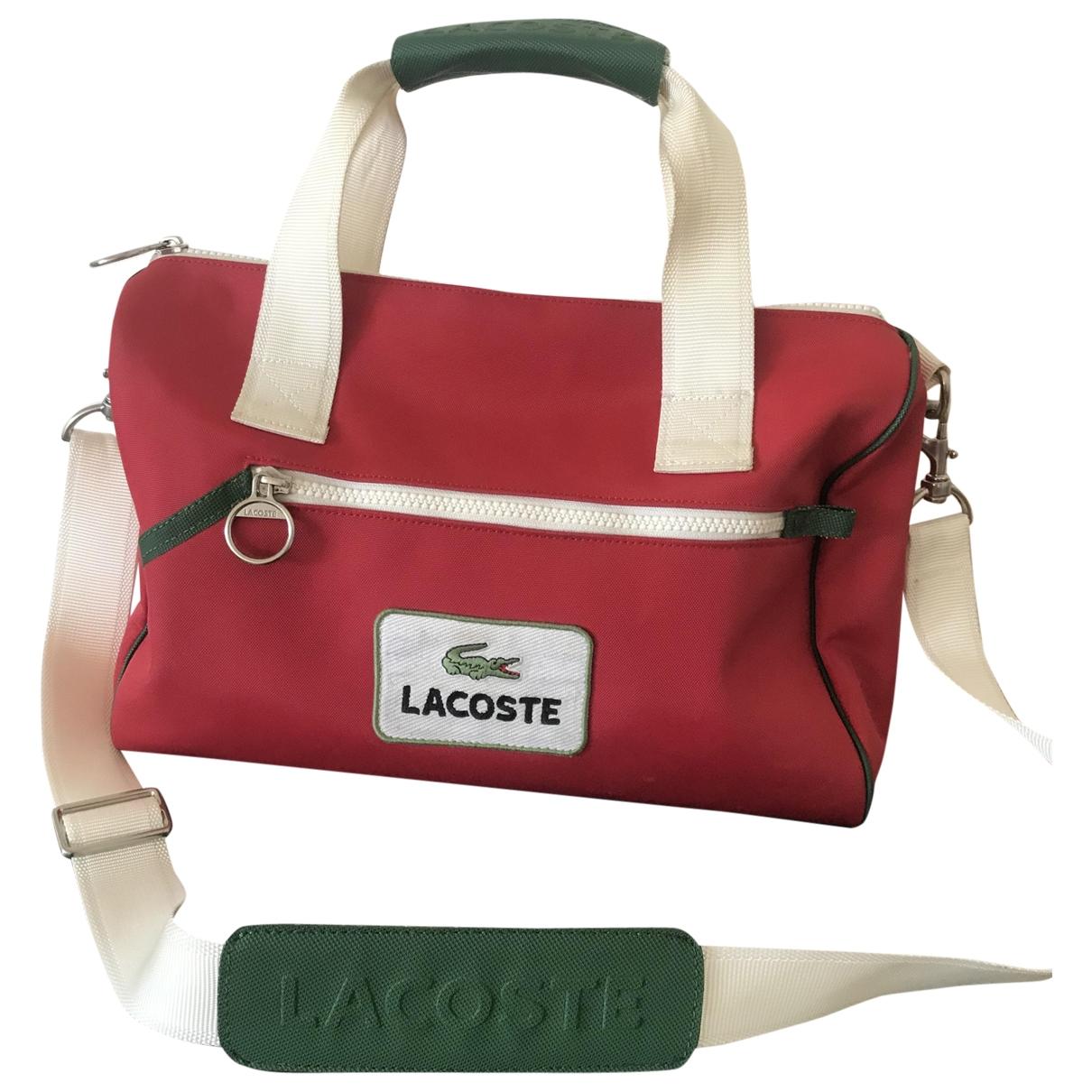 Lacoste \N Handtasche in  Rot Leinen