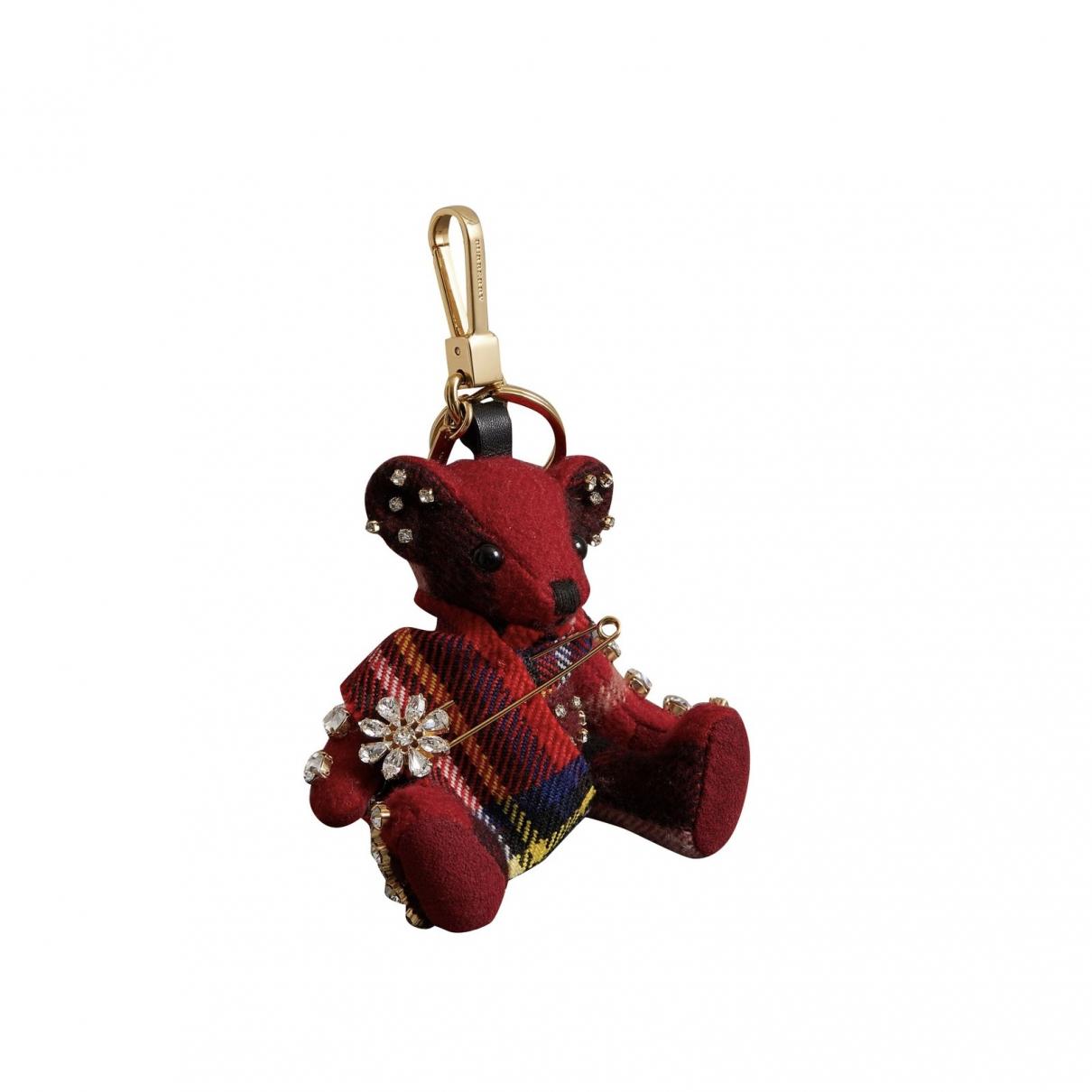 Burberry \N Taschenschmuck in  Rot Leinen