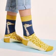 Socken mit Karikatur Muster 1 Paar
