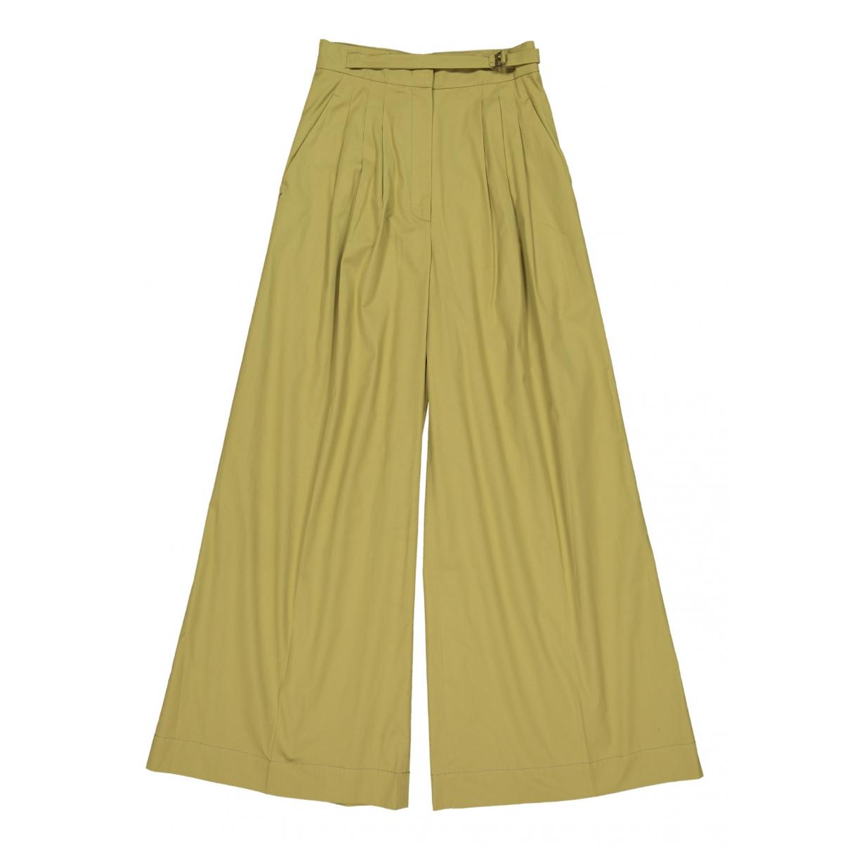 Alberta Ferretti - Pantalon   pour femme en coton - kaki