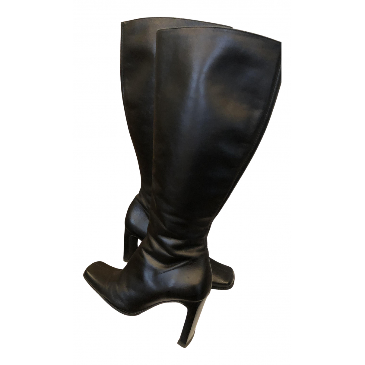 Ted Baker \N Black Leather Boots for Women 4 UK