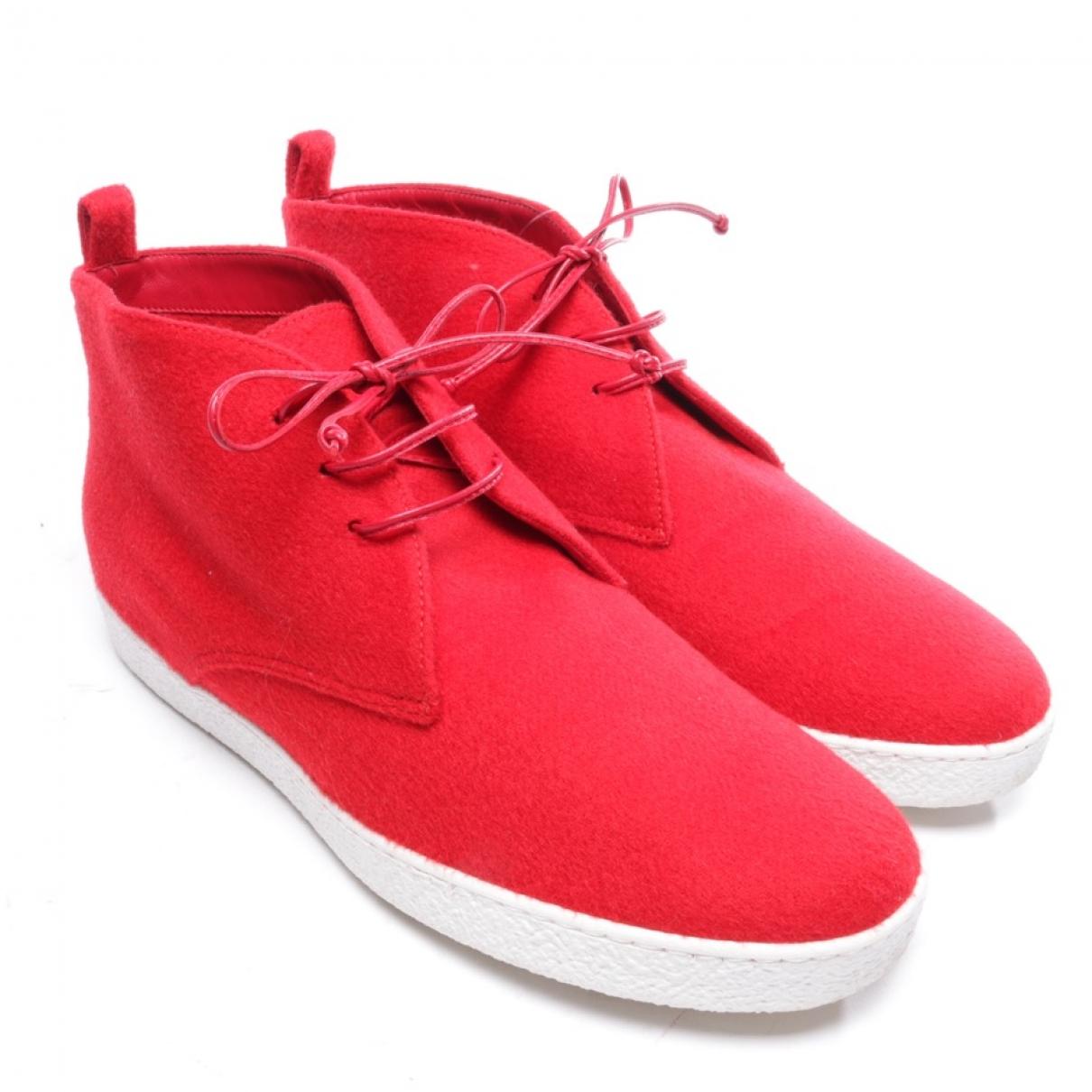 Unutzer - Baskets   pour homme en toile - rouge
