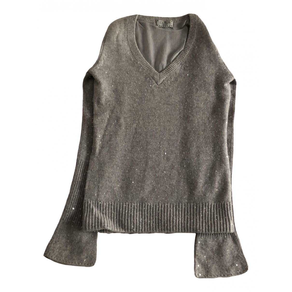 Non Signé / Unsigned \N Grey Cashmere Knitwear for Women S International
