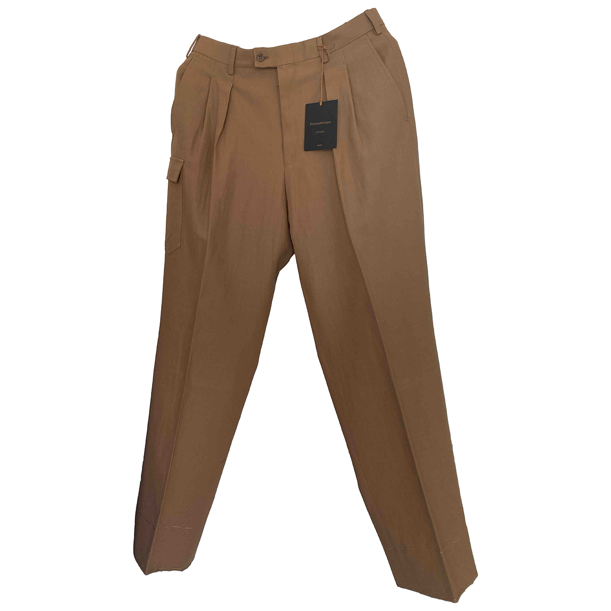 Ermenegildo Zegna - Pantalon   pour homme en coton - beige