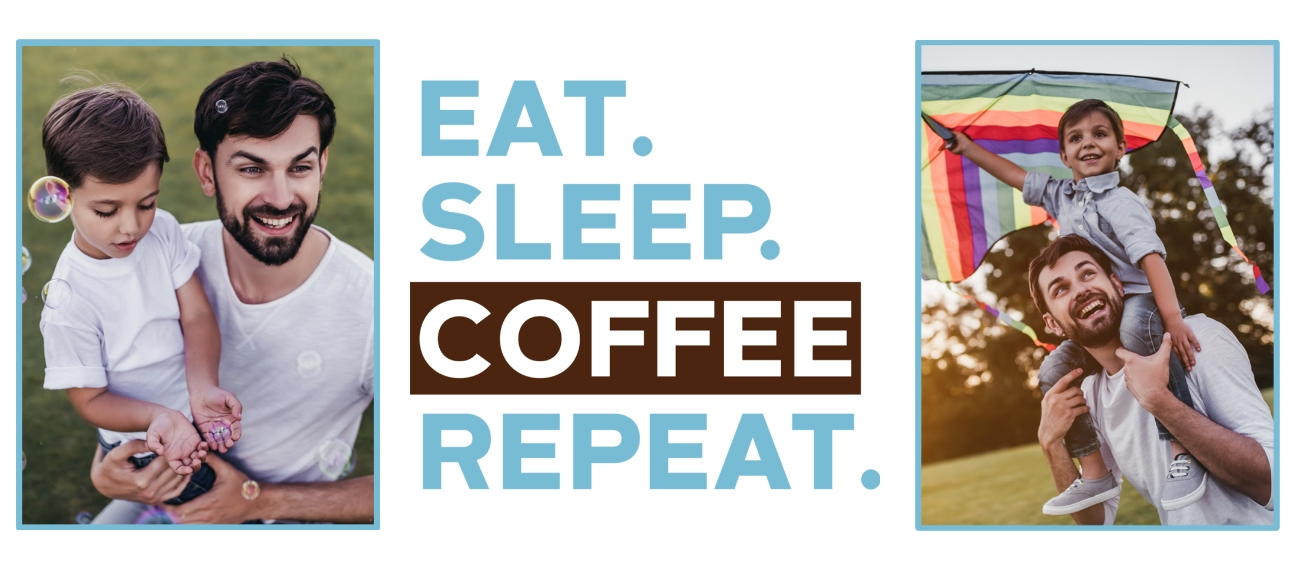 Everyday Insulated Coffee Mug, Gift -Eat Sleep Coffee