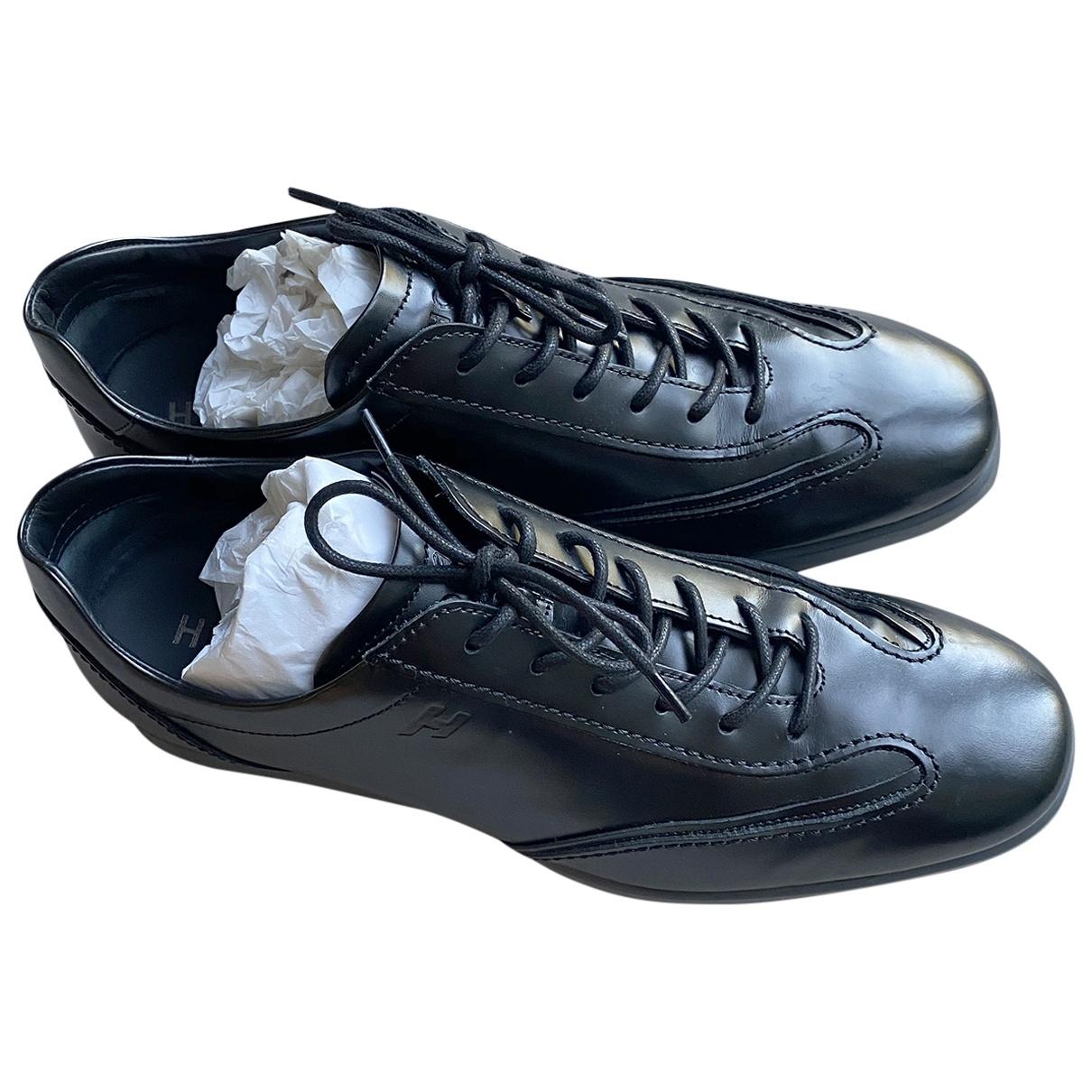 Hogan - Baskets   pour homme en cuir - noir
