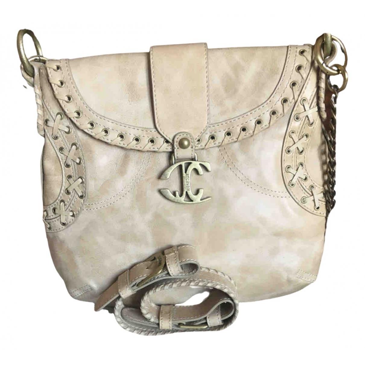 Just Cavalli \N Handtasche in  Beige Leder