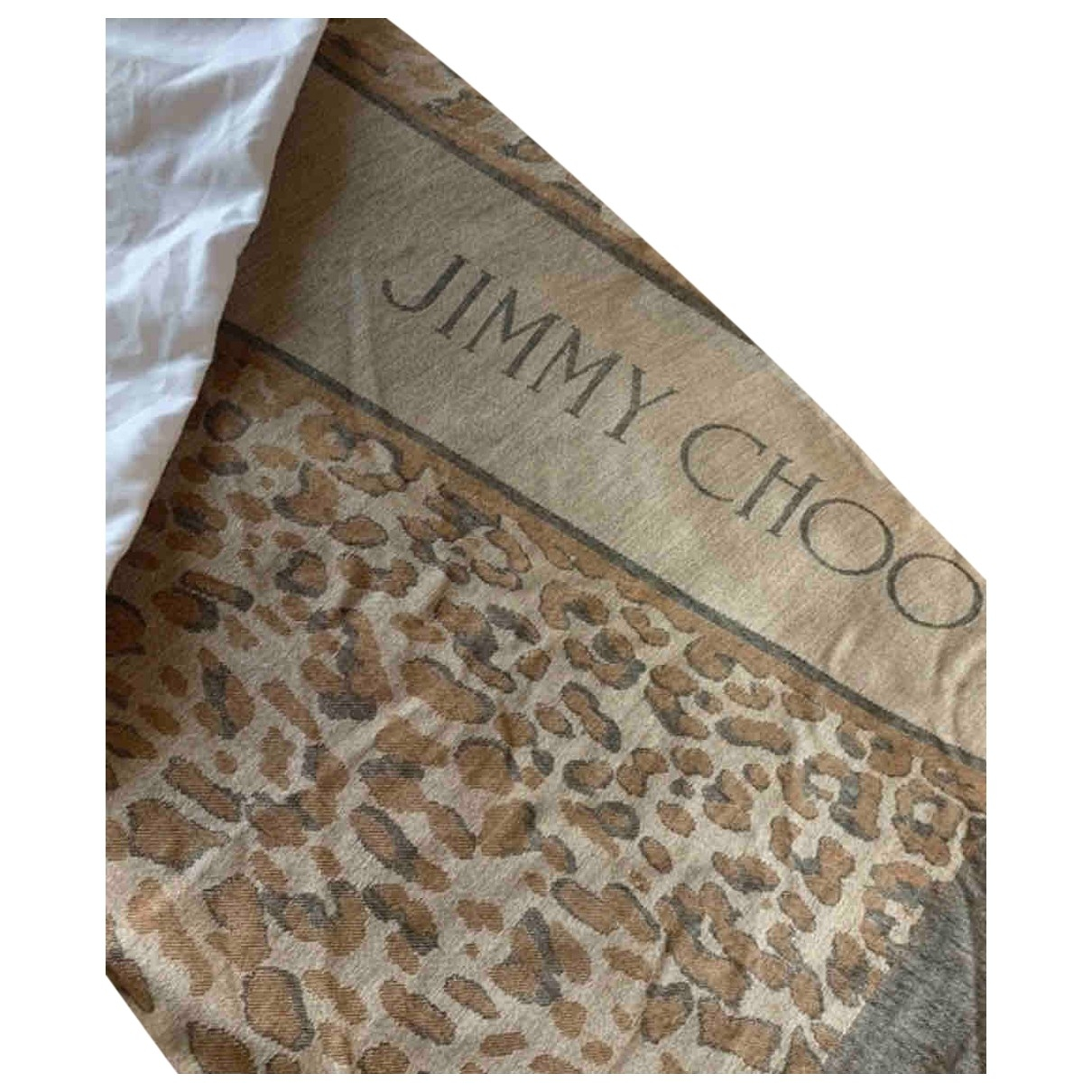 Jimmy Choo \N Beige Cotton scarf for Women \N