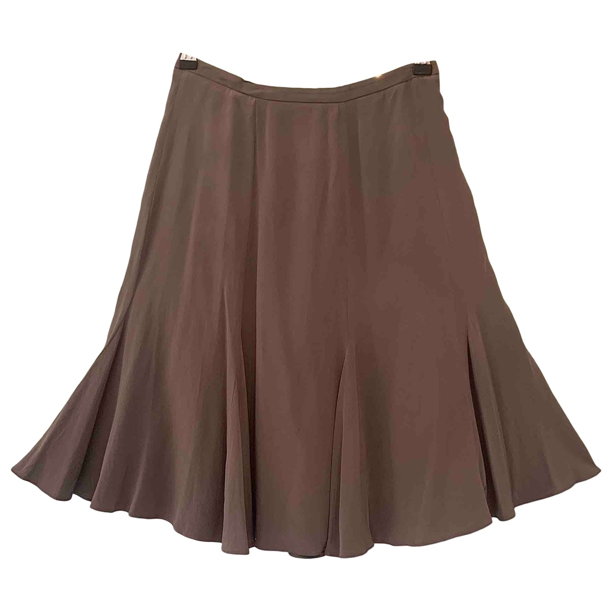 Giorgio Armani \N Anthracite Silk skirt for Women 42 IT