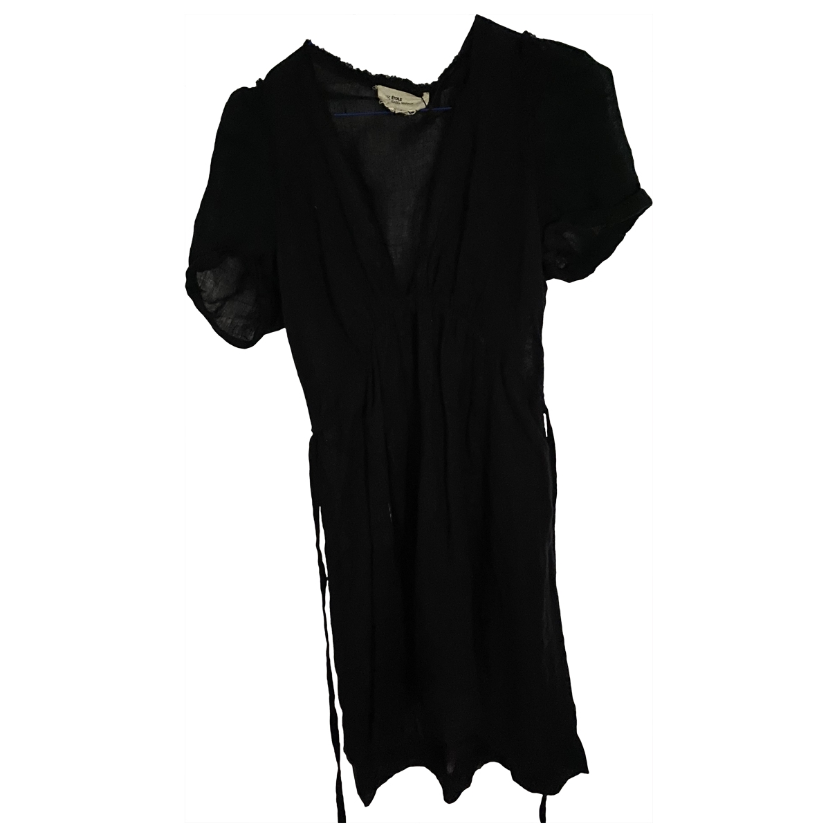 Isabel Marant Etoile \N Black Linen dress for Women 40 FR