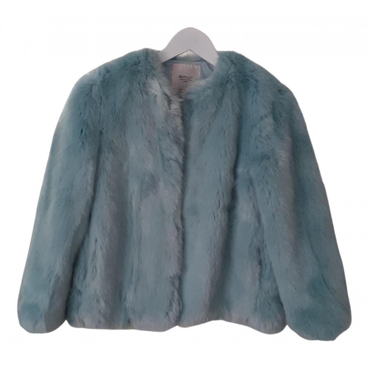 Zara N Blue Faux fur coat for Women S International