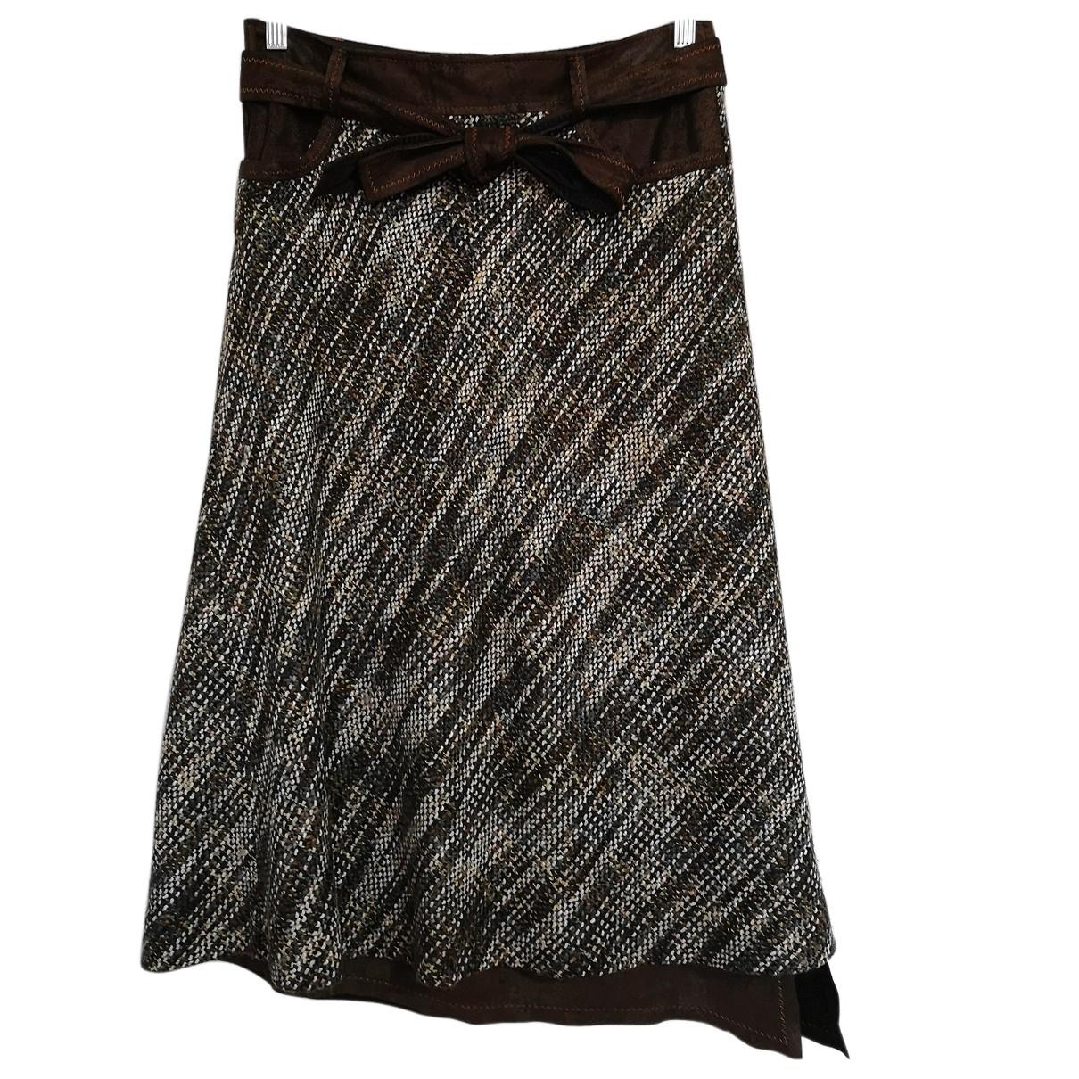 Mariella Rosati - Jupe   pour femme en laine - marron