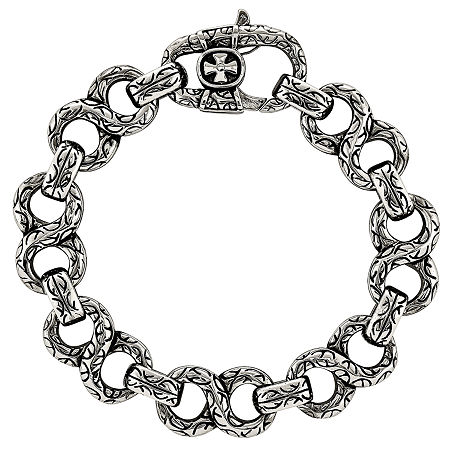 Stainless Steel 8 1/2 Inch Chain Bracelet, One Size , No Color Family