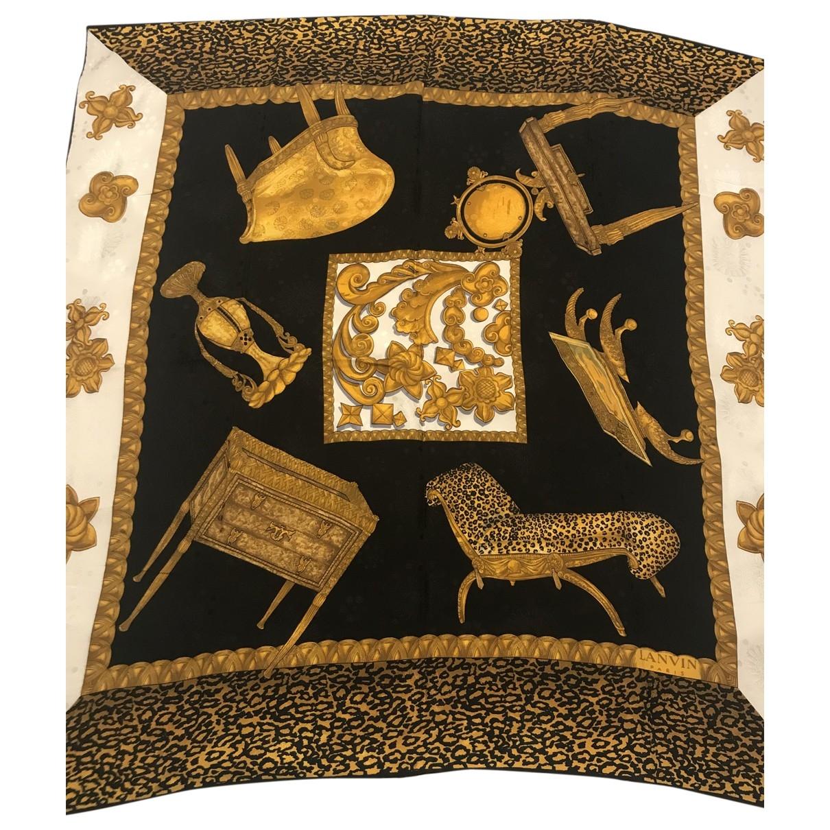 Lanvin \N Gold Silk Silk handkerchief for Women \N
