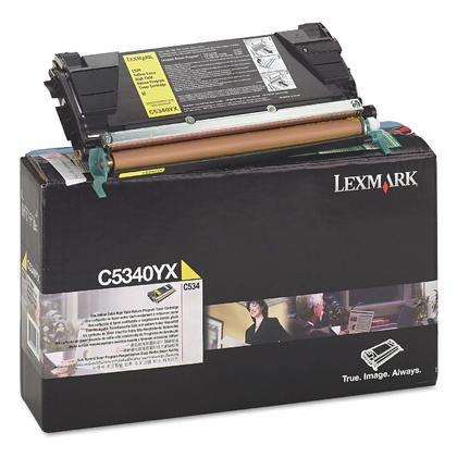 Lexmark C5340YX Original Yellow Return Program Toner Cartridge Extra High Yield