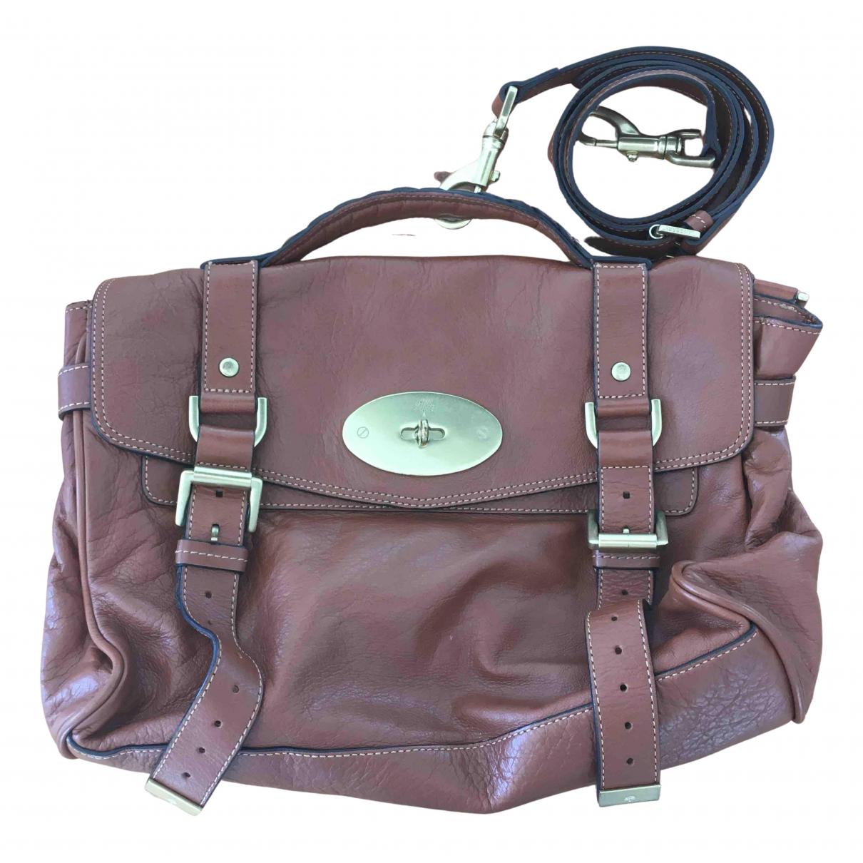 Mulberry Alexa Handtasche in  Braun Leder