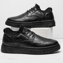 Zapatos de vestir de hombres con cordon delantero