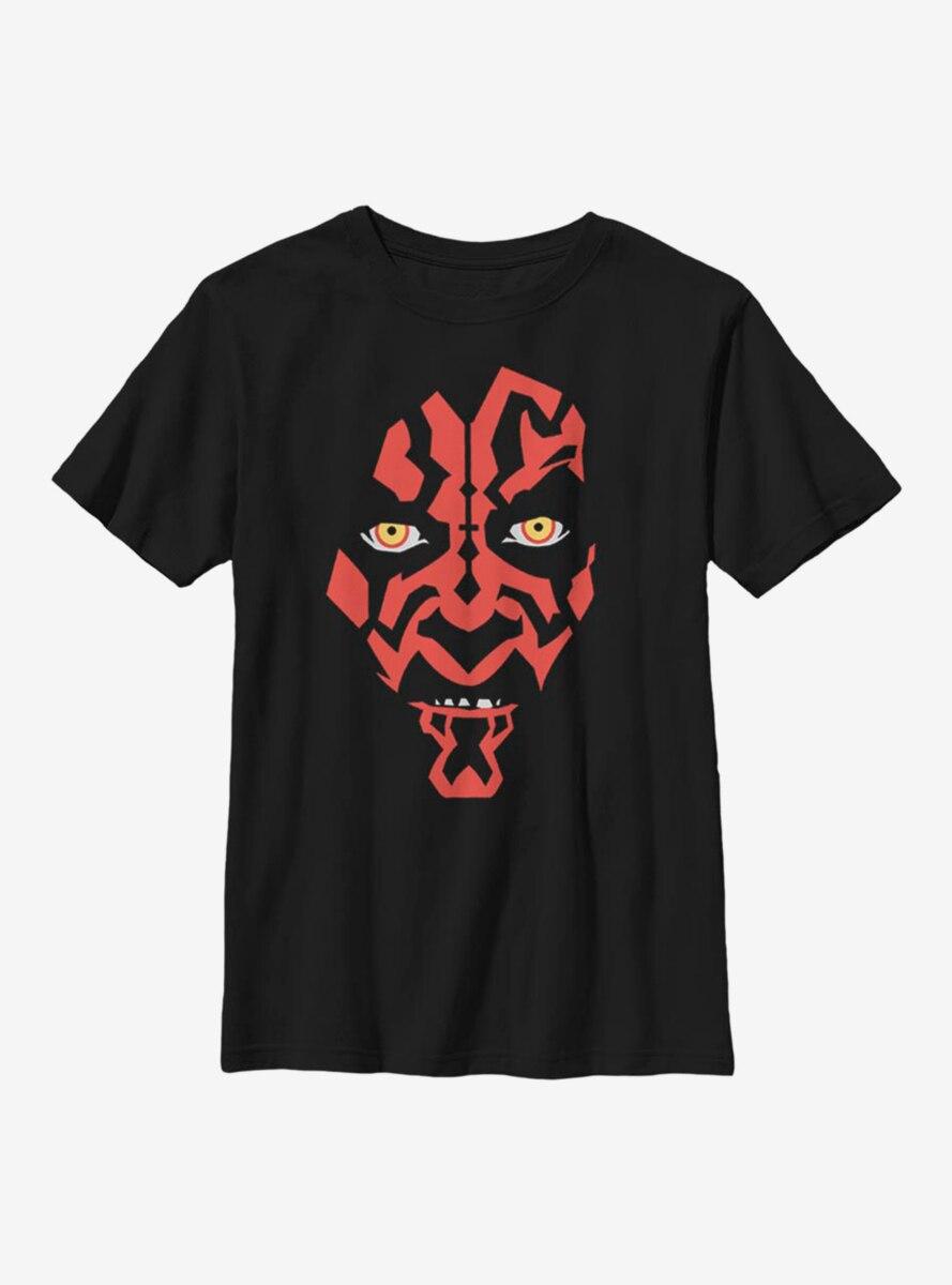 Star Wars Darth Maul Face Youth T-Shirt