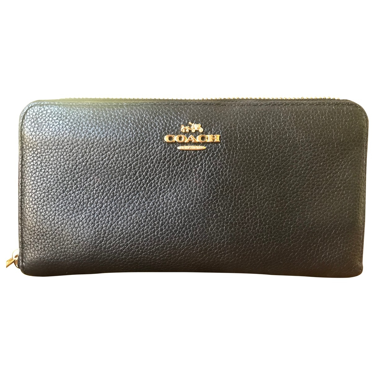 Coach \N Black Leather wallet for Women \N