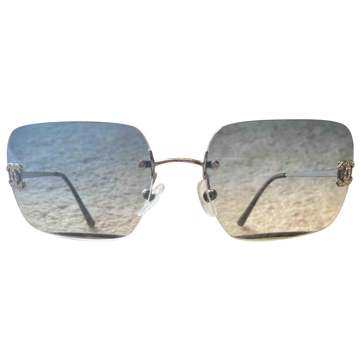 Chanel \N Blue Metal Sunglasses for Women \N