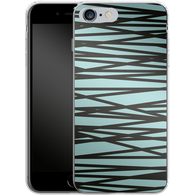 Apple iPhone 6 Plus Silikon Handyhuelle - Rendezvous Stripe von Khristian Howell
