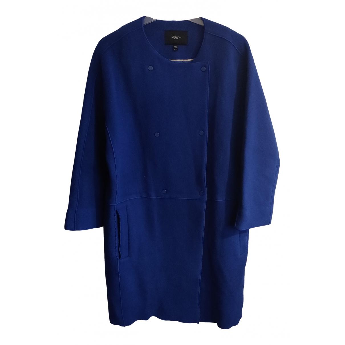 Mo&co - Manteau   pour femme en laine - bleu