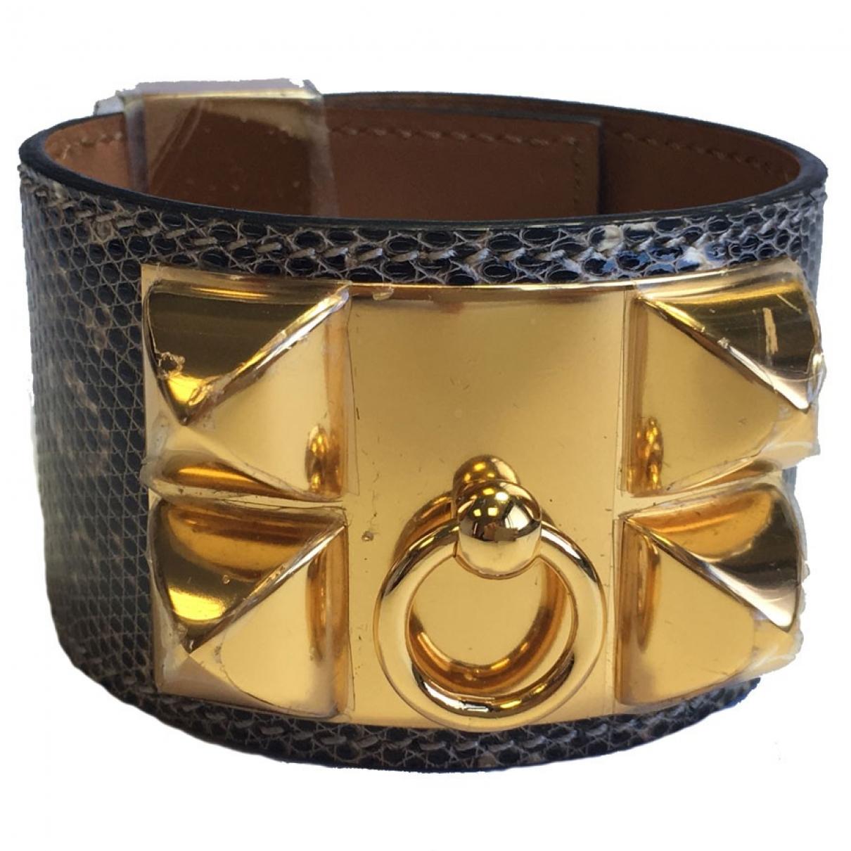 Hermes - Bracelet Collier de chien  pour femme en lezard