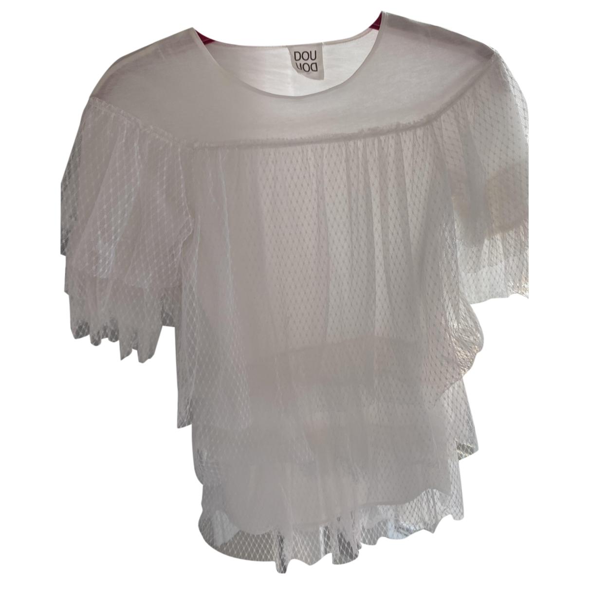 Douuod - Robe    pour enfant en coton - blanc