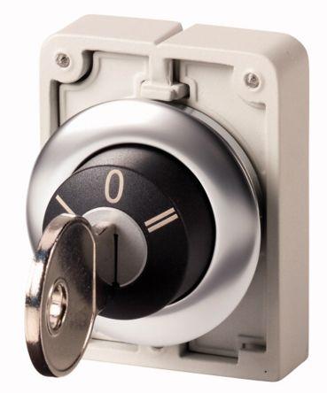 Eaton M30 Key Switch Head - 3 Position, Momentary, 30mm cutout