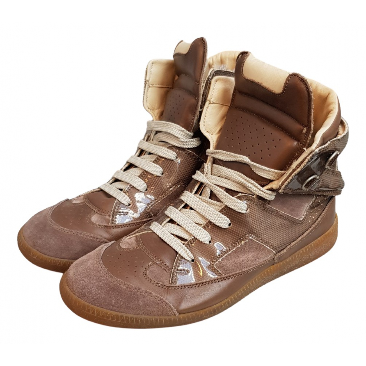 Maison Martin Margiela \N Sneakers in  Braun Leder