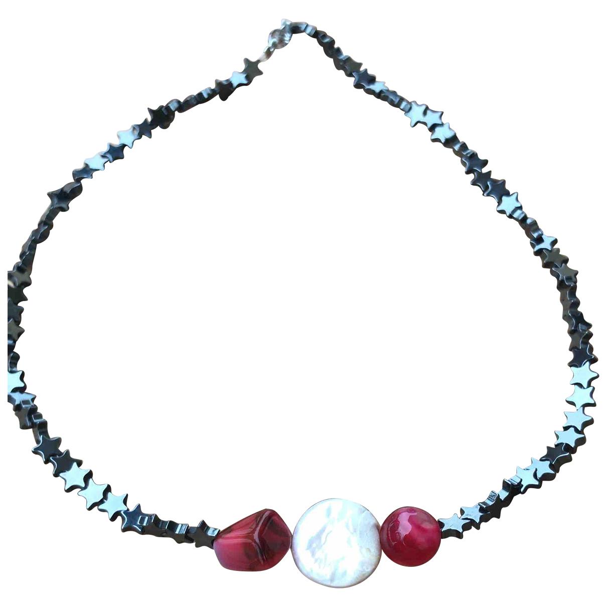 - Collier Motifs Etoiles pour femme en cristal - violet