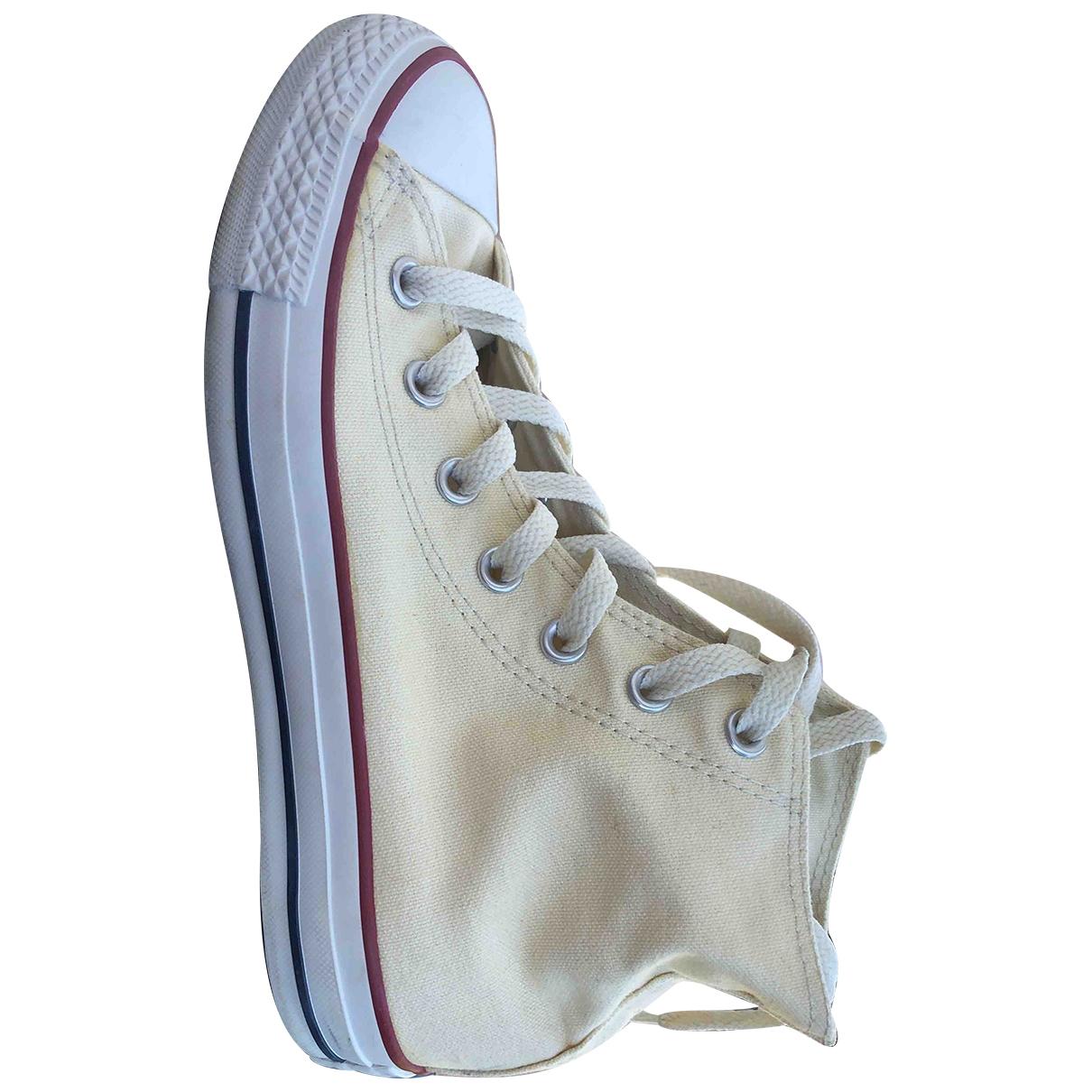 Converse \N Ecru Cloth Trainers for Women 38 EU
