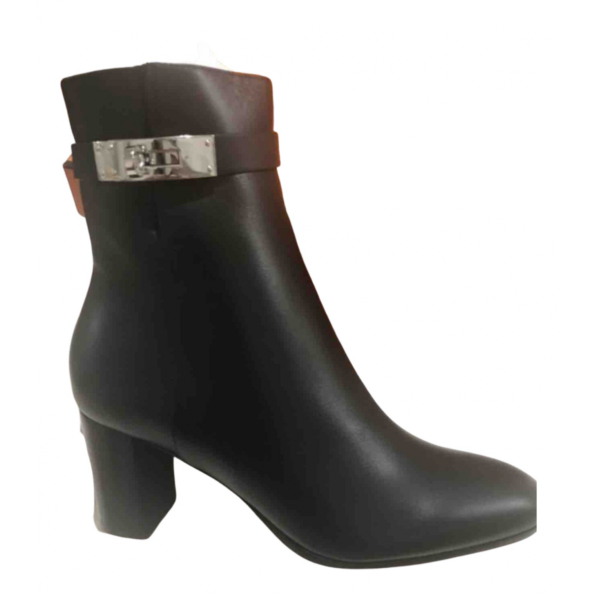 Hermès \N Black Leather Ankle boots for Women 39 EU
