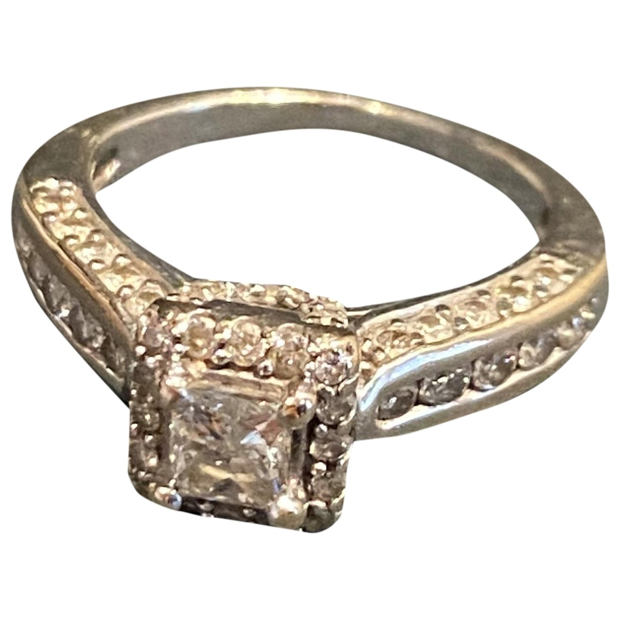 Non Signe / Unsigned \N Ring in  Gold Weissgold