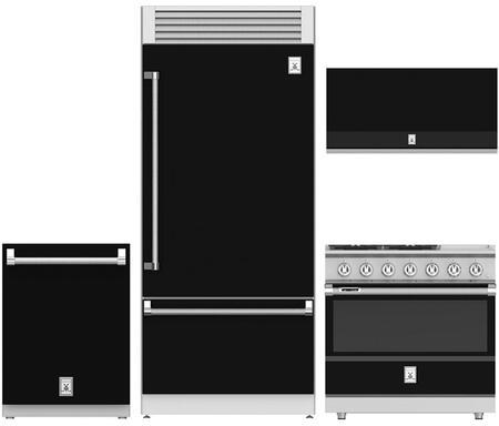 4-Piece Kitchen Appliances Package with KRPR36BK 36