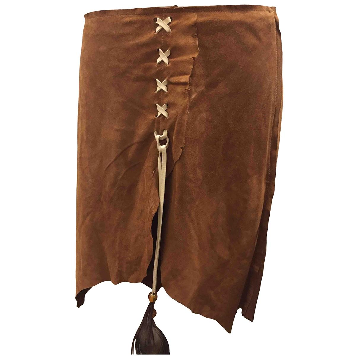 Dolce & Gabbana \N Camel Leather skirt for Women 40 IT