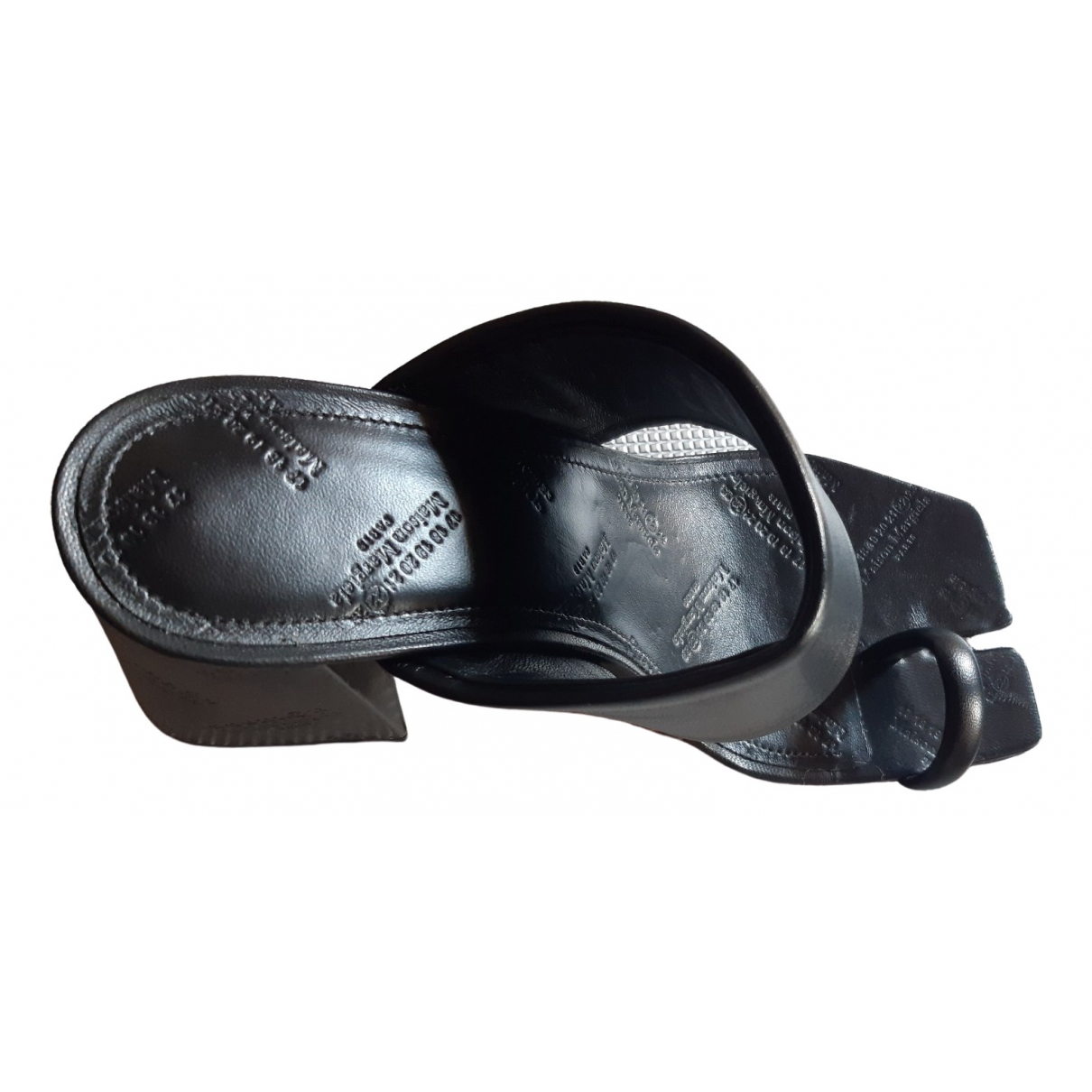 Maison Martin Margiela \N Black Leather Sandals for Women 38 EU