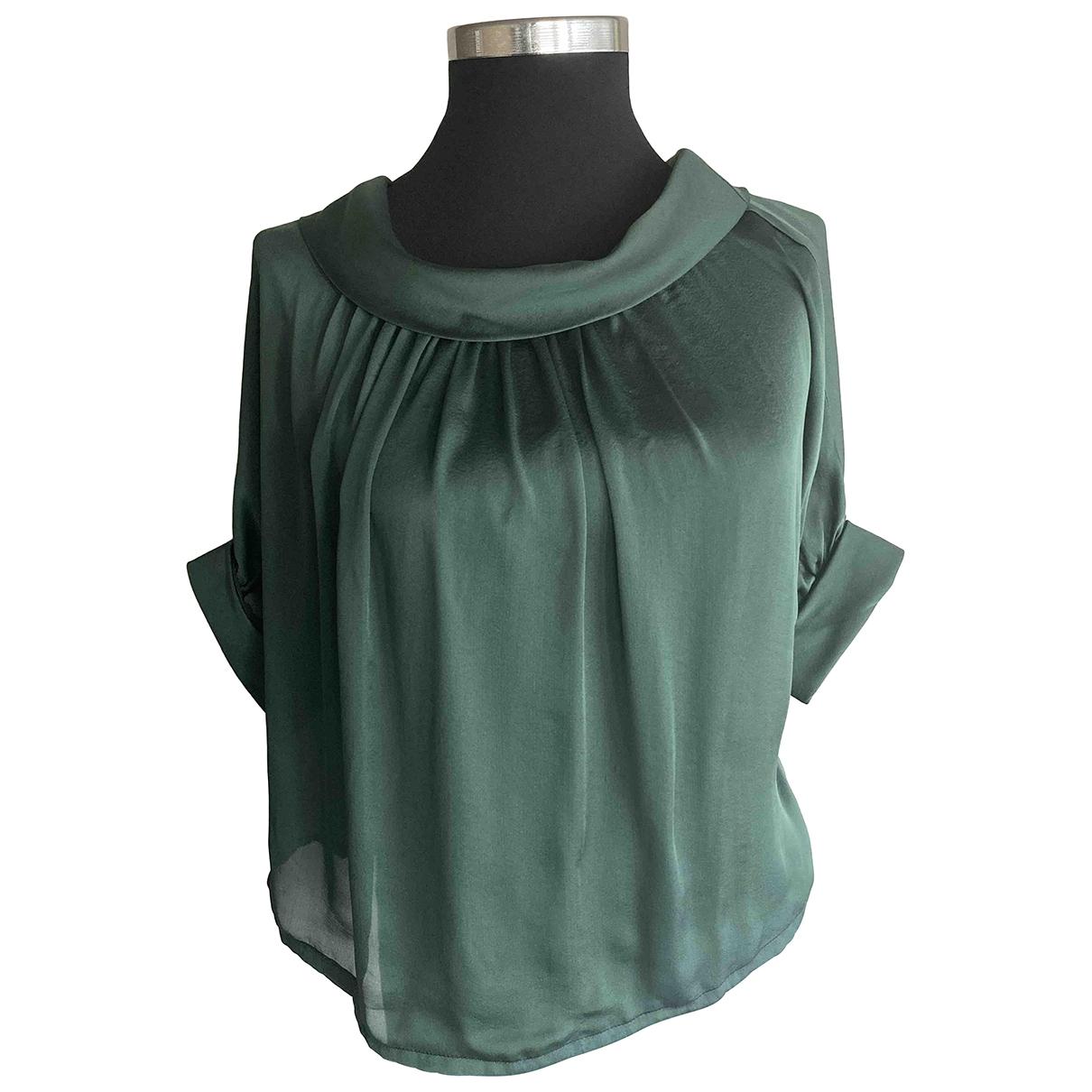 Dsquared2 - Top   pour femme en soie - vert