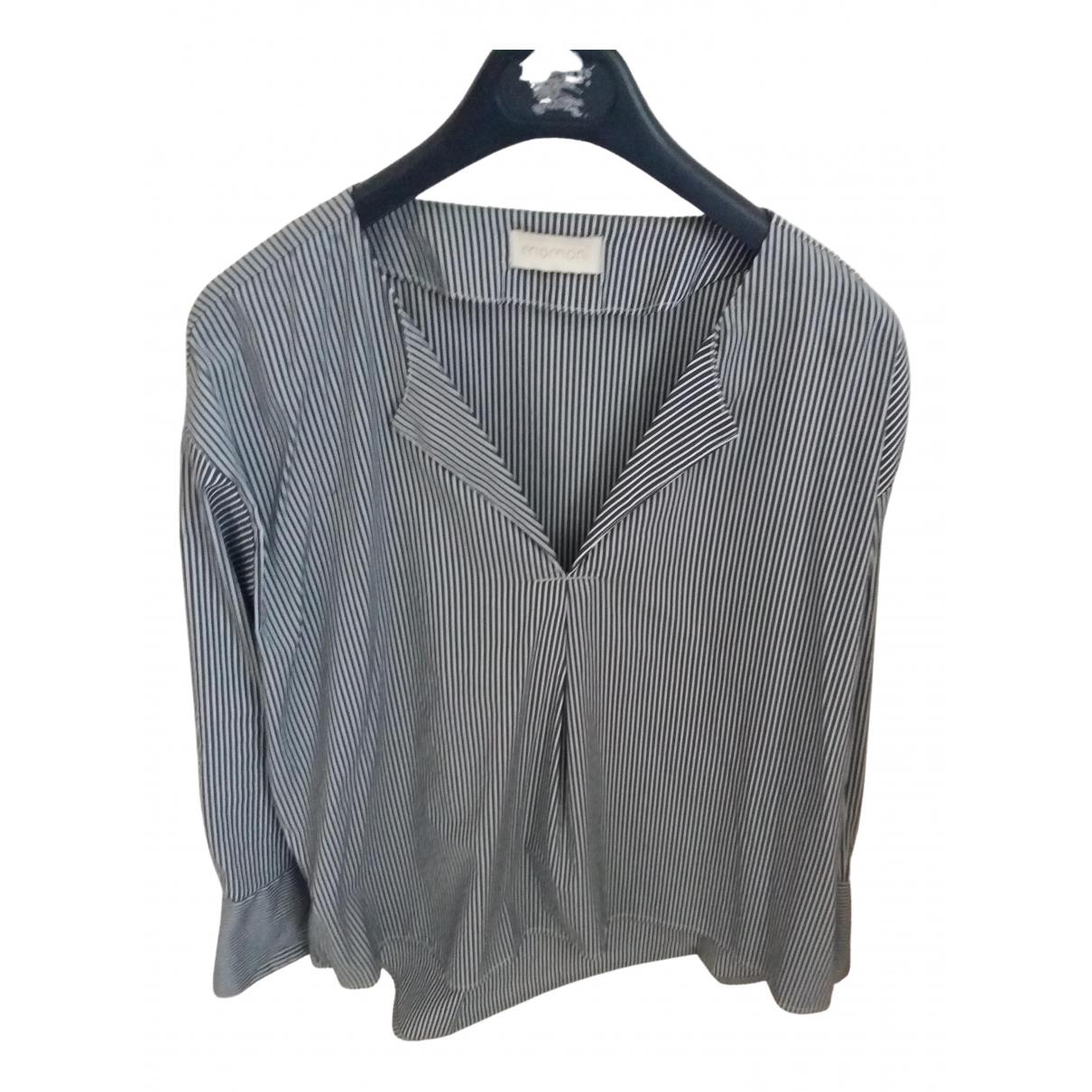 Momoni - Top   pour femme en coton - bleu