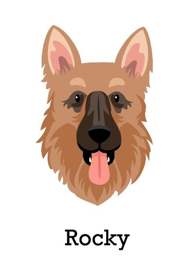 Pet Canvas Print, 20x30, Home Décor -German Shepherd